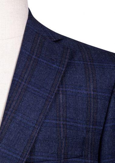 Dayton Sport Coat | Blue Subtle Windowpane