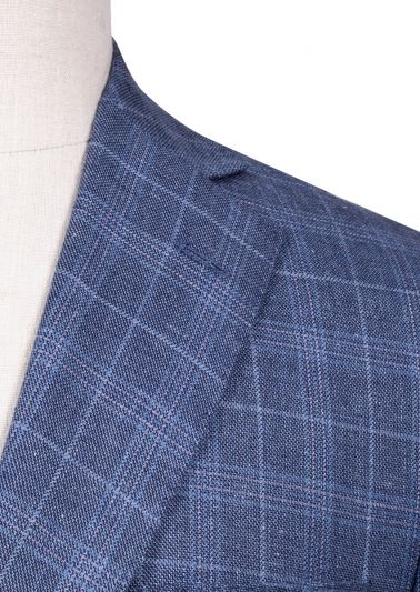 Dayton Sport Coat | Dusty Blue Overcheck