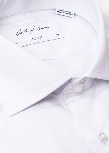 Keaton Business Shirt | White Poplin