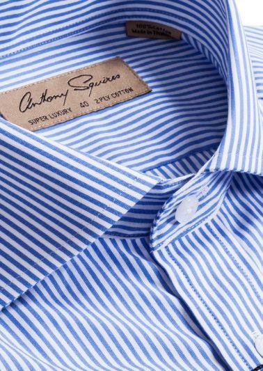 Manly Luxury Shirt | Blue Bengal Stripe