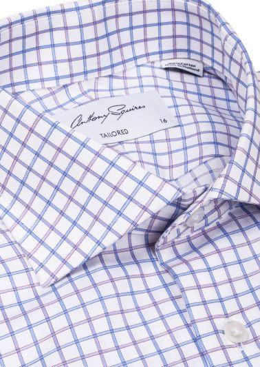Nigel Business Shirt | Blue Lilac Check