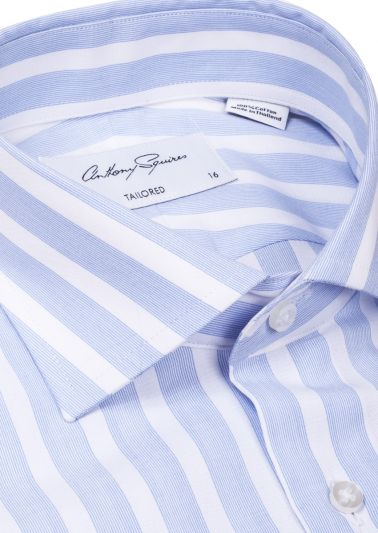 Nigel Business Shirt | Blue Stripe