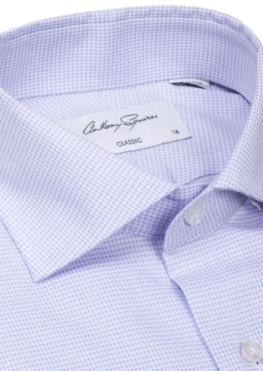 Miles Business Shirt | Lilac Microdesign