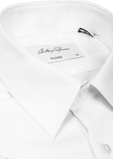 Norris Business Shirt | White Fine Pinpoint Oxford