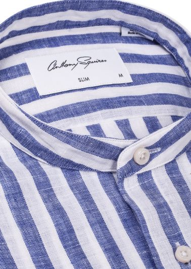 Troy Casual Shirt | Dark Blue Stripe