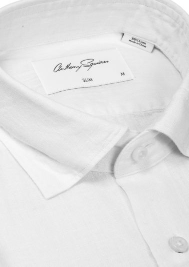 Riley Casual Shirt | White Flax