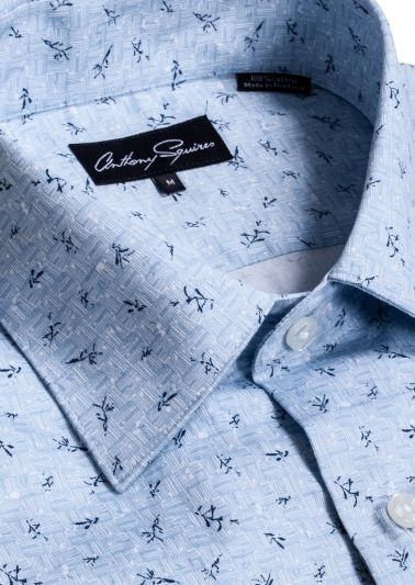 Colin Casual Shirt | Blue Print