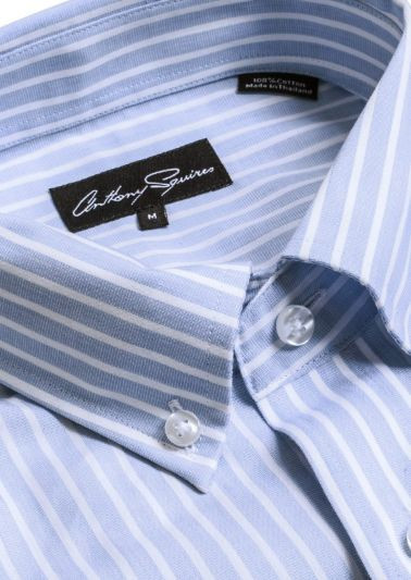 Ryan Shirt | Blue White Bengal Stripe
