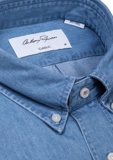 Kane Casual Shirt | Light Blue Denim