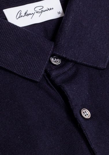 Leroy Polo Shirt | Navy Knit