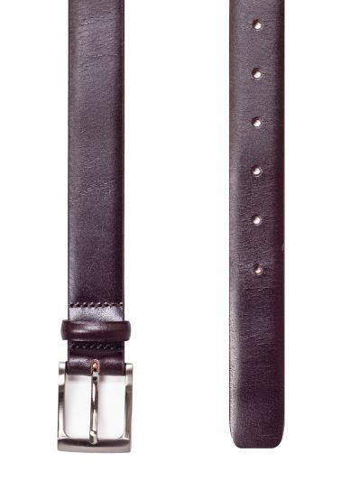 Dark brown leather belt | Smooth