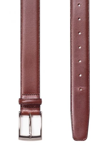Tan leather belt | Stitched