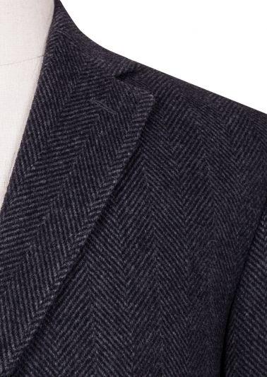 Lloyd Overcoat | Charcoal Herringbone