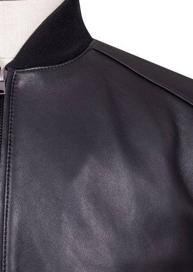 Salinger Bomber Jacket | Black Leather