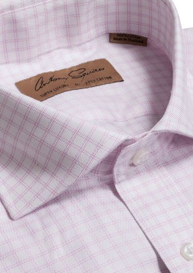 Manly Luxury Shirt | White Pink Check