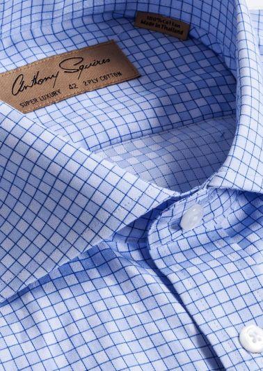 Manly Luxury Shirt | Blue Minicheck