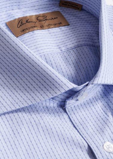 Manly Luxury Shirt | Blue Fine Stripe