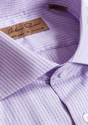 Manly Luxury Shirt | Lilac Fine Stripe