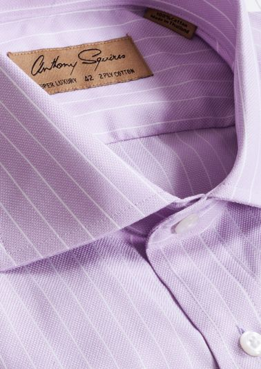 Manly Luxury Shirt | Lilac Pinstripe