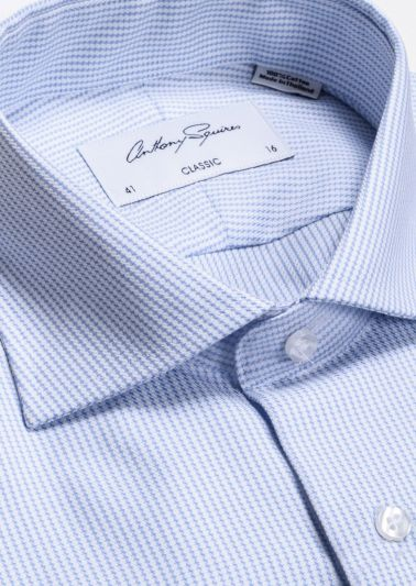 Miles Business Shirt | Blue Microdesign
