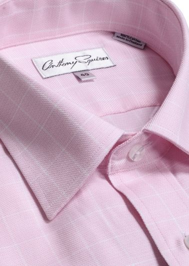 Luka Business Shirt | Pink Overcheck