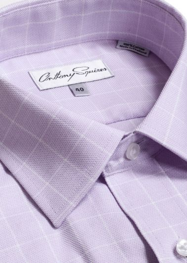 Luka Business Shirt | Lilac Overcheck