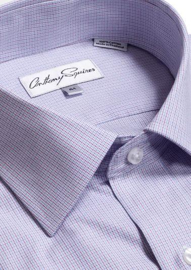 Luka Business Shirt | Lilac/Blue Check