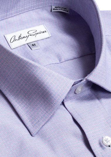 Luka Business Shirt | Lilac Self Design