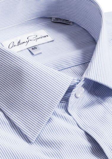 Luka Business Shirt | Blue Stripe