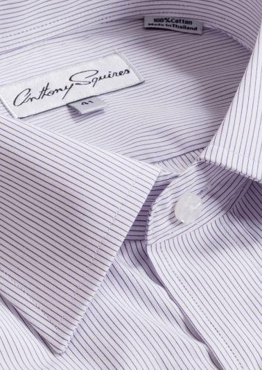 Luka Business Shirt | Lilac Stripe