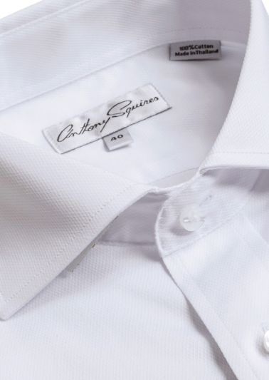 Bruce Business Shirt | White Textured