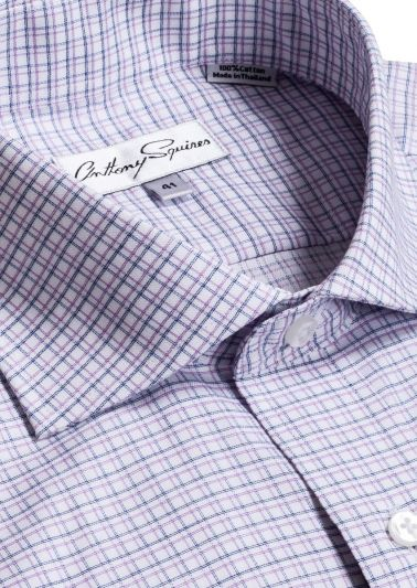 Bruce Business Shirt | Blue/Lilac Check
