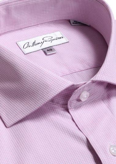 Jack Business Shirt | Pink Minicheck