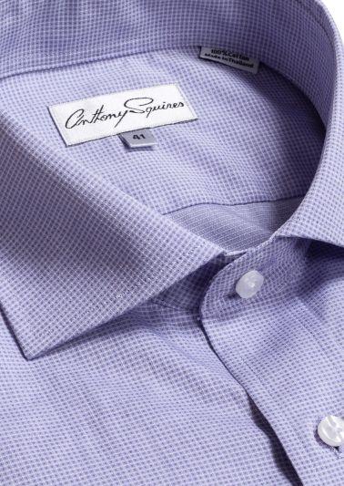 Jack Business Shirt | Lilac Minicheck