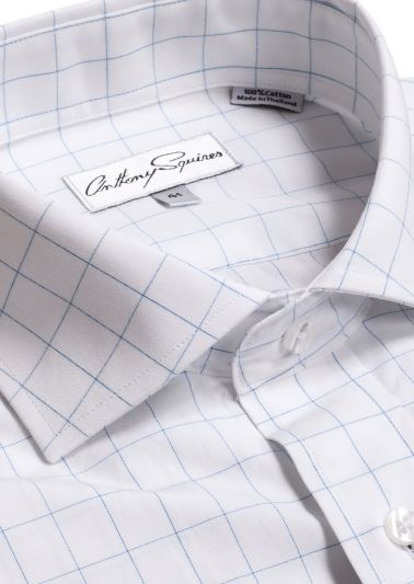 Jack Business Shirt   Blue Check