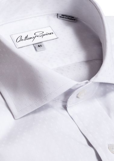 Jack Business Shirt | White Self Design