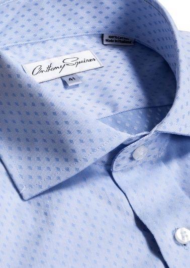 Jack Business Shirt | Blue Self Design