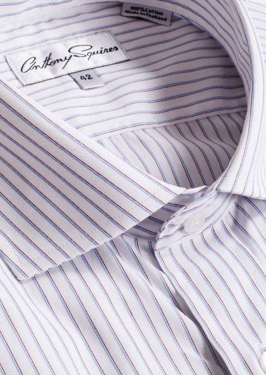 Jack Business Shirt | Blue Burgundy Stripe