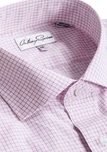 Jack Business Shirt | Pink Fine Check