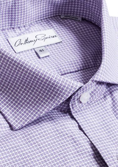 Jack Business Shirt | Lilac Houndstooth