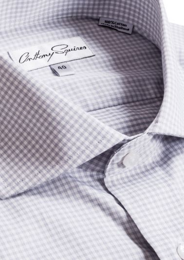 Jack Business Shirt | Grey Fine Check