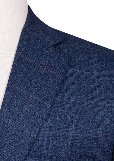 Brighton+ Suit | Blue Windowpane Check
