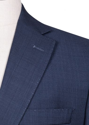 Brighton+ Suit | Blue Tonal Overcheck