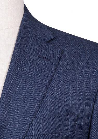 Ives Suit | Indigo Blue Pinstripe