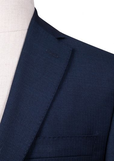 Brighton Suit | Blue Self Stripe