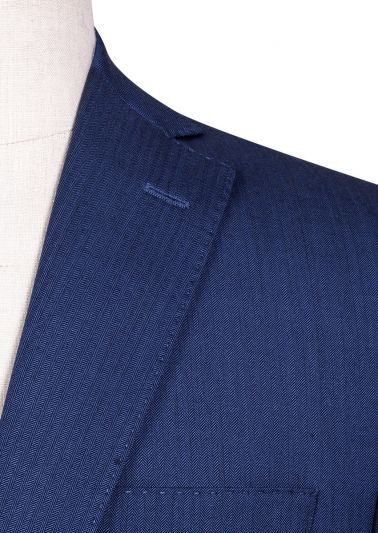 Brighton Suit | Blue Herringbone
