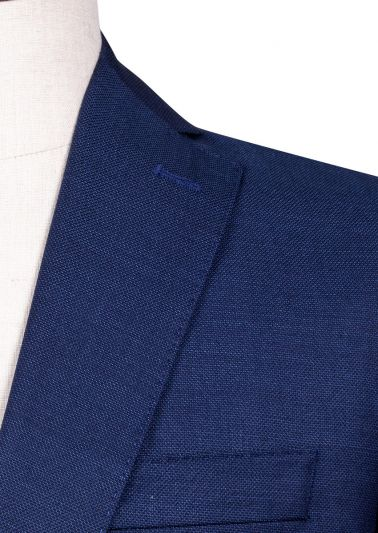 Brighton Suit | Mid Blue Microdesign