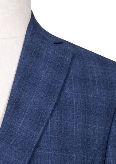 Brighton Suit | Blue Windowpane