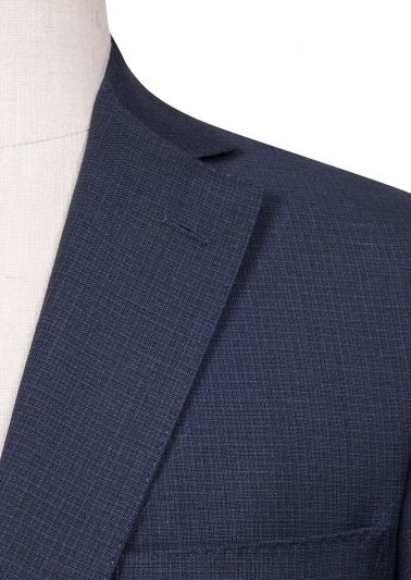 Brighton Suit | Navy Tonal mini check