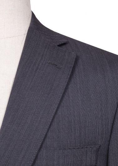 Brighton Suit | Grey Subtle Herringbone
